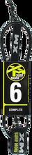Xm - Regular Complite Leash 6' Black