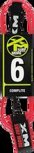 Xm - Regular Complite Leash 6' Light Red