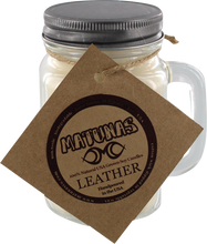 Matunas - Soy Candle 16oz Glass Mug-leather