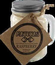 Matunas - Soy Candle 16oz Glass Mug-raspberry