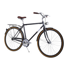 ZF Bikes - Civic Mens City Bike - Black Copper