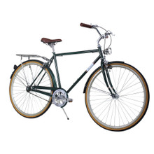 ZF Bikes - Civic Mens City Bike - Forest