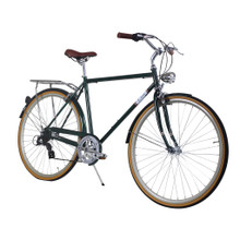 ZF Bikes - Civic Mens City Bike - Forest 7Speed