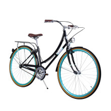 ZF Bikes - Civic Womens City Bike - Black Skies