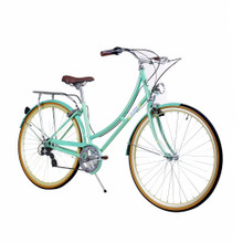 ZF Bikes - Civic Womens City Bike - Minty 7Speed