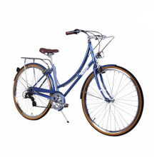ZF Bikes - Civic Womens City Bike - Misty Blue 7Speed