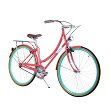 ZF Bikes - Civic Womens City Bike - Salmon