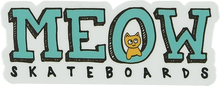 """Meow - Logo Decal 1""""x2.9"""""""