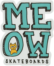 """Meow - Stacked Logo Decal 2.2""""x2.65"""""""