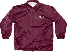 Chocolate - Inaugural Coach Jacket L-burgundy