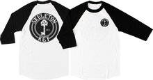 Skeleton - Key Black Dot Raglan 3/4 Slv S-wht/blk