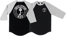 Skeleton - Key Factory Dot Raglan 3/4 Slv Xl-bk/grey