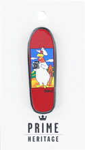 "Prime Heritage - Jason Lee Foghorn Board Lapel Pin 2"" Red"