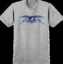 Anti Hero - Basic Eagle Ss S-athletic Heather/blue