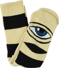 Toy Monster - Sect Eye Big Stripe Crew Socks-camel 1pr