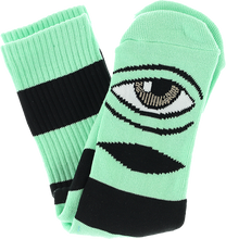 Toy Monster - Sect Eye Big Stripe Crew Socks-mint 1pr