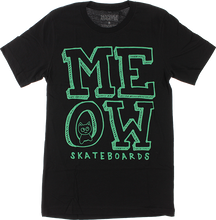 Meow - Stacked Logo Ss S-black