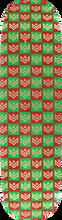 Mini Logo - Deck 181/k-15 -8.5 Chevron Gift Wrap Grn/rd Ppp - Skateboard Deck