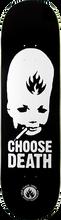 Black Label - Choose Death Deck 8.75 Blk/wht - Skateboard Deck