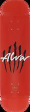 Alva - Scratch Logo-8.0 Red - Skateboard Deck
