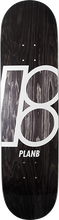Plan B - B Stained Deck-8.0 Black - Skateboard Deck