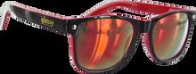 Glassy Sunhaters - Leonard Blk/blk/red Mirror Sunglasses