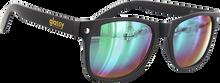 Glassy Sunhaters - Leonard Matte Blk/grn Mirror Sunglasses
