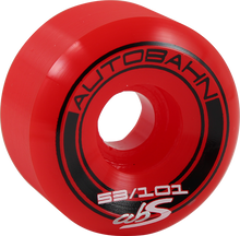 Autobahn - Abs Gt1 Widebody Le 53mm 101a Red W/blk (Skateboard Wheels - Set of 4)