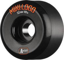 Mini Logo - Logo A-cut 52mm 101a Black Ppp (Skateboard Wheels - Set of 4)