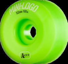 Mini Logo - Logo A-cut 52mm 101a Green Ppp (Skateboard Wheels - Set of 4)