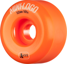 Mini Logo - Logo A-cut 52mm 101a Orange Ppp (Skateboard Wheels - Set of 4)