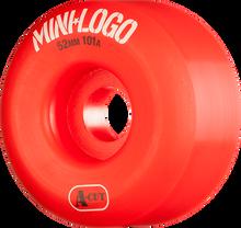 Mini Logo - Logo A-cut 52mm 101a Red Ppp (Skateboard Wheels - Set of 4)