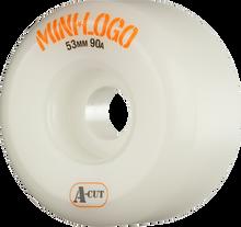 Mini Logo - A-cut Hybrid 53mm 90a White Ppp (Skateboard Wheels - Set of 4)