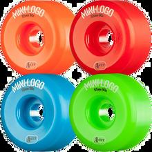 Mini Logo - A-cut Hybrid 55mm 90a Asst.grn/red/blu/org Ppp (Skateboard Wheels - Set of 4)