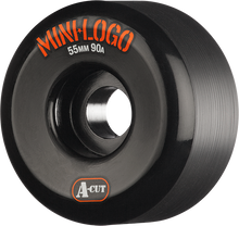 Mini Logo - A-cut Hybrid 55mm 90a Black Ppp (Skateboard Wheels - Set of 4)