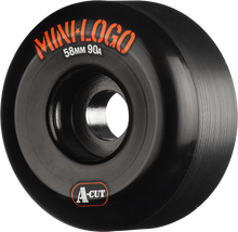 Mini Logo - A-cut Hybrid 58mm 90a Black Ppp (Skateboard Wheels - Set of 4)