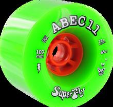 Abec 11 - Electric Flywheels 107mm 74a Green (Skateboard Wheels - Set of 4)