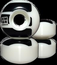 Embrace - Logo 50mm 100a Wht/blk Ppp (Skateboard Wheels - Set of 4)