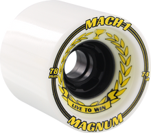 Venom - Mach-1 78mm 74a Wht/blk (Skateboard Wheels - Set of 4)