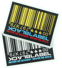 Black Label - Barcode Decal Single Asst.