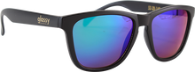 Glassy Sunhaters - Deric Matte Black/grn Mirror Sunglasses