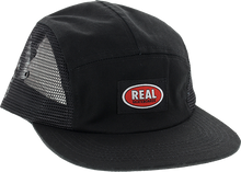 Real - Oval Clip 5p Adj Hat-black