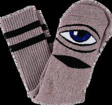 Toy Machine - Sect Eye Heather Crew Socks-pink 1pr - Skateboard Socks