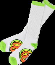 Oj Wheels - Elite Tall Socks White 1pr - Skateboard Socks