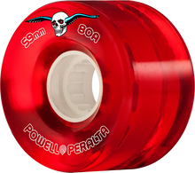 Powell Peralta - Clear Cruiser 59mm 80a Red - Skateboard Wheels (Set of Four)