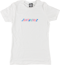 Santa Cruz - Colored Strip Girls Ss Xl-white