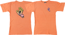 Santa Cruz - Pastel Screaming Hand Girls Ss L-melon Orange