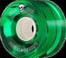 Powell Peralta - Clear Cruiser 63mm 80a Green - Skateboard Wheels (Set of Four)