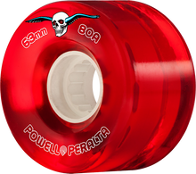Powell Peralta - Clear Cruiser 63mm 80a Red - Skateboard Wheels (Set of Four)