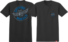 Spitfire - Flying Classic Pocket Ss S-blk/blue - T-Shirt